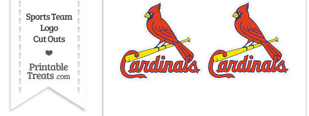 Small St Louis Cardinals Logo Cut Outs