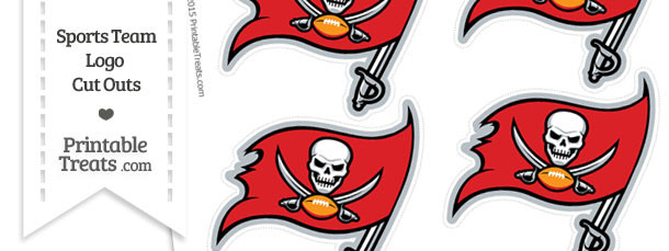 Small Tampa Bay Buccaneers Logo Cut Outs