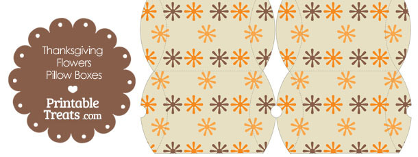 Small Thanksgiving Flowers Pillow Box