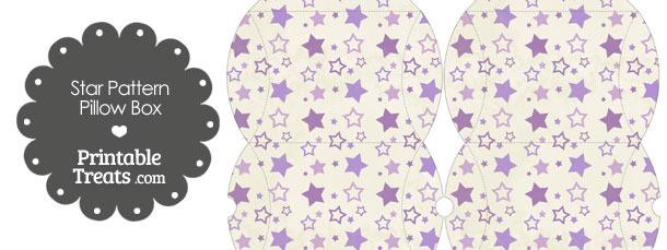 Small Vintage Purple Star Pattern Pillow Box