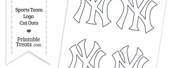 Small White New York Yankees Logo Cut Outs