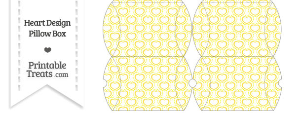 Small Yellow Heart Design Pillow Box