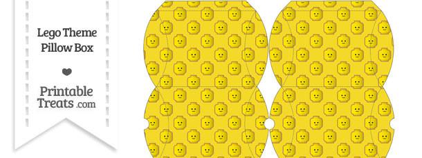 Small Yellow Lego Theme Pillow Box