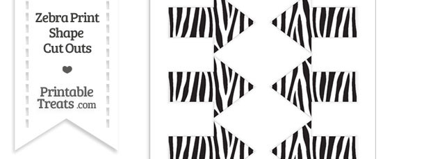 Small Zebra Print Arrow Cut Outs