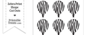 Small Zebra Print Balloon Cut Outs