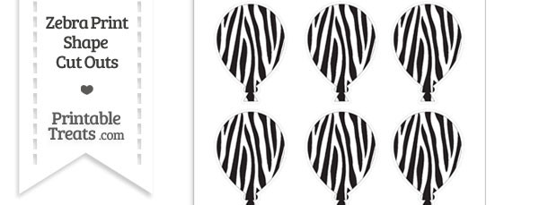 Small Zebra Print Balloon Cut Outs