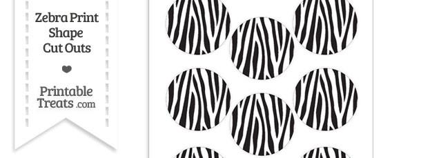 Small Zebra Print Circle Cut Outs