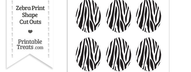 Small Zebra Print Easter Egg Cut Outs
