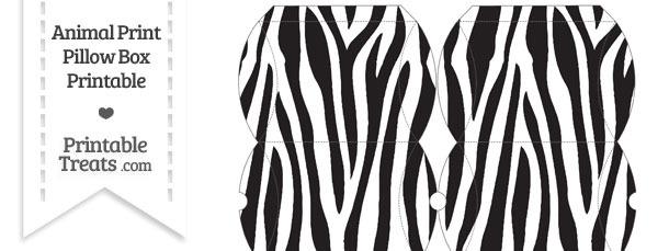 Small Zebra Print Pillow Box