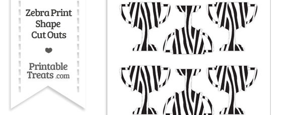 Small Zebra Print Trophy Cut Outs