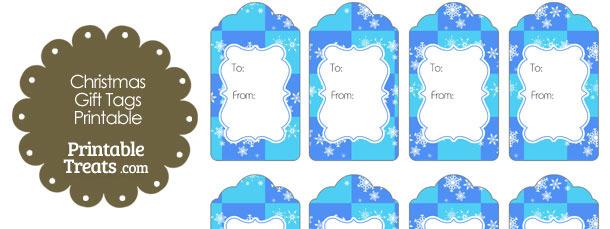 Snowflake Checkered Gift Tags