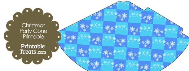 Snowflake Checkered Party Cone