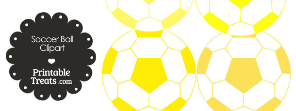 Soccer Ball Clipart in Shades of Yellow