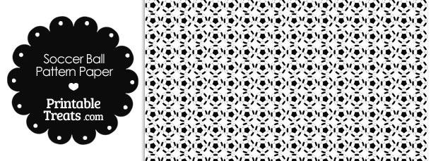 Soccer Ball Pattern Digital Scrapbook Paper