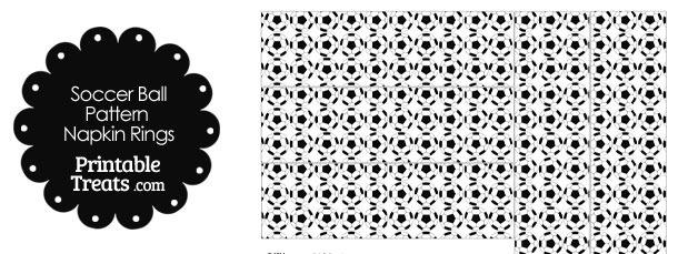 Soccer Ball Pattern Napkin Rings