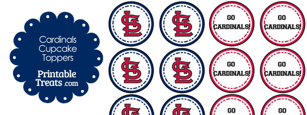St Louis Cardinals Cupcake Toppers
