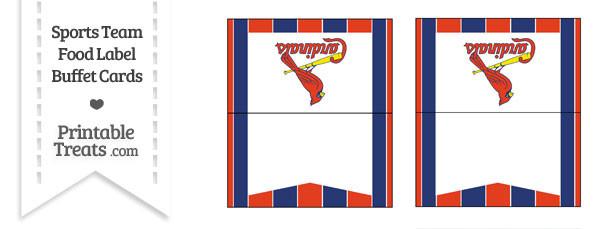 St Louis Cardinals Food Label Buffet Cards