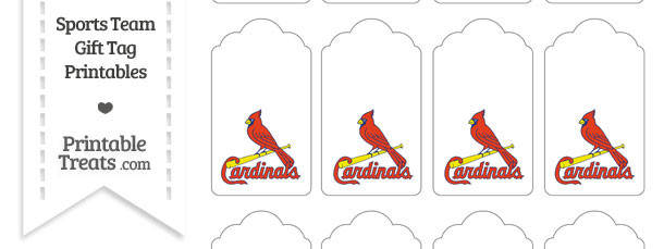 St Louis Cardinals Gift Tags