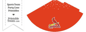 St Louis Cardinals Party Cone Printable