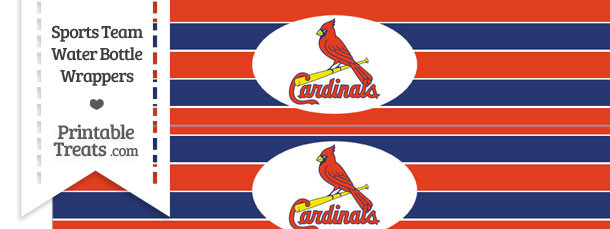 St Louis Cardinals Water Bottle Wrappers
