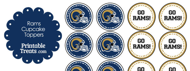 St Louis Rams Cupcake Toppers