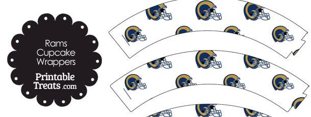 St Louis Rams Football Helmet Cupcake Wrappers