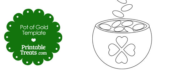 St Patricks Day Pot of Gold Template