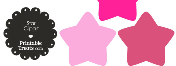 Star Clipart in Shades of Pink in Shades of Pink