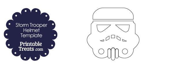 Star Wars Stormtrooper Helmet Template