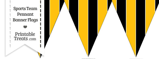 Steelers Colors Pennant Banner Flag