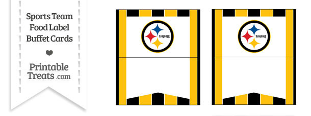 Steelers Food Label Buffet Cards