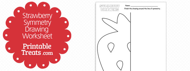 free-strawberry-symmetry-drawing-worksheet