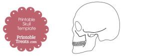 Sideways Skulls Outline