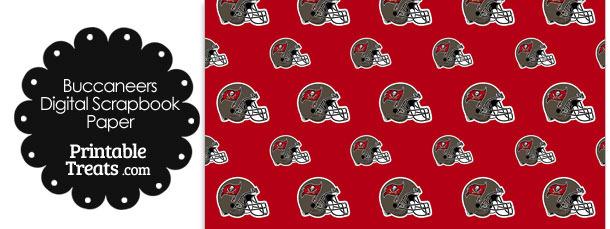 Tampa Bay Buccaneers Football Helmet Digital Paper