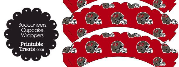 Tampa Bay Buccaneers Football Helmet Scalloped Cupcake Wrappers