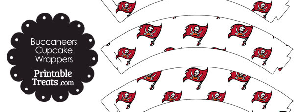 Tampa Bay Buccaneers Logo Cupcake Wrappers