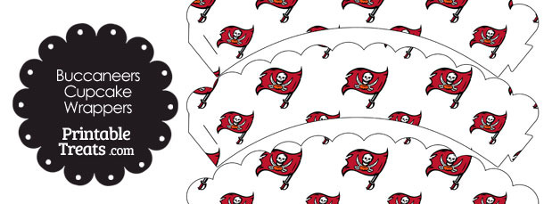 Tampa Bay Buccaneers Logo Scalloped Cupcake Wrappers