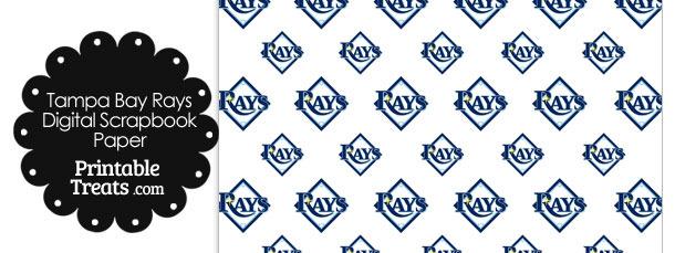 Tampa Bay Rays Baseball Digital Paper