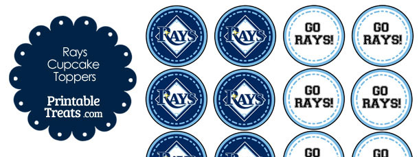 Tampa Bay Rays Cupcake Toppers