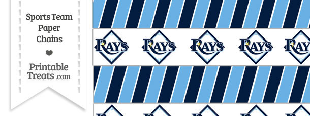 Tampa Bay Rays Paper Chains