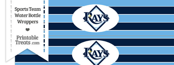 Tampa Bay Rays Water Bottle Wrappers