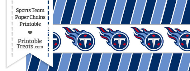 Tennessee Titans Paper Chains