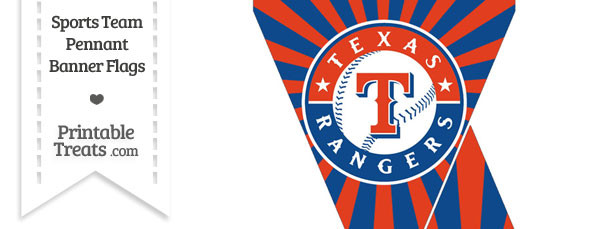 Texas Rangers Mini Pennant Banner Flags