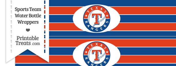 Texas Rangers Water Bottle Wrappers