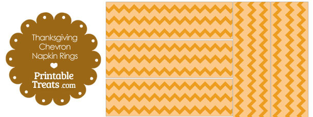 Thanksgiving Chevron Napkin Rings