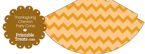 Thanksgiving Chevron Party Cone