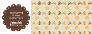 Thanksgiving Flowers Digital Scrapbook Paper