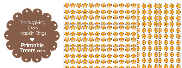 Thanksgiving Owls Napkin Rings