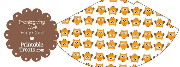 Thanksgiving Owls Party Cone