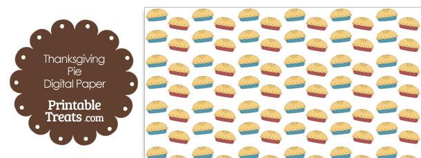 Thanksgiving Pies Digital Scrapbook Paper
